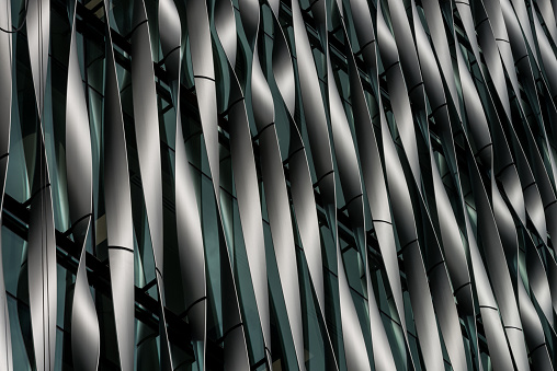 Detailed view of modern building, London, UK