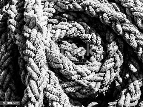 istock Detailed view of rope ball 501889762