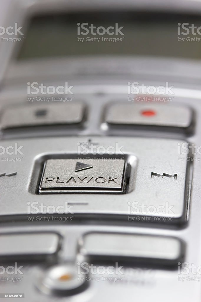Detailed view of the digital voice recorder. stock photo