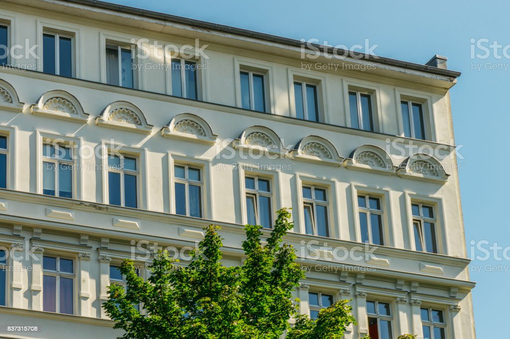 detailed view of yellow luxury facade stock photo