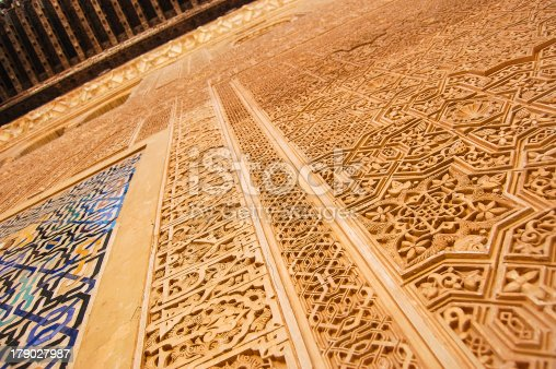 121178604istockphoto Detailed wall of the Alhambra. 179027987