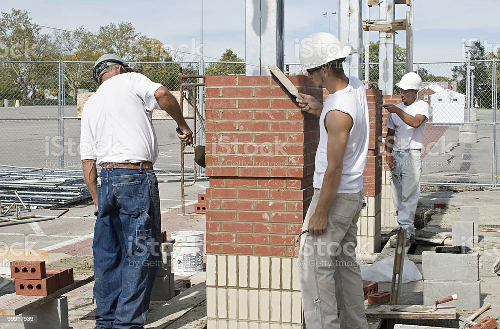 Detailing the Brickwork royalty-free stock photo