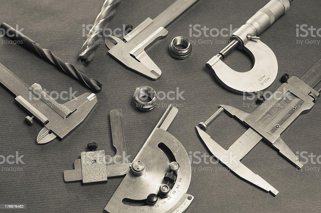 Details, Übungen und messen tools, Nahaufnahme – Foto