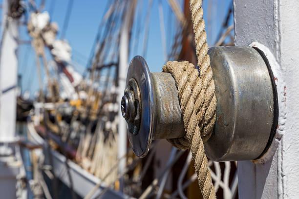 details equipment of ship on deck – Foto
