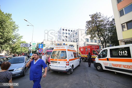 istock Details from the exterior of Floreasca Emergency Hospital 1023091230