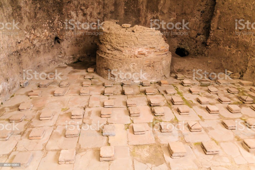 Details in Public Baths in Pompeii - Royalty-free Accidents and Disasters Stock Photo