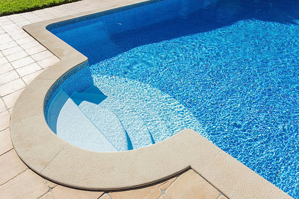 Details level pool for tourists. stock photo