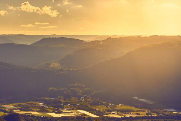 Informationen über eine Stadt umgeben von wunderschönen Bergen, Nova Petropolis, Rio Grande do Sul - Südbrasilien. – Foto