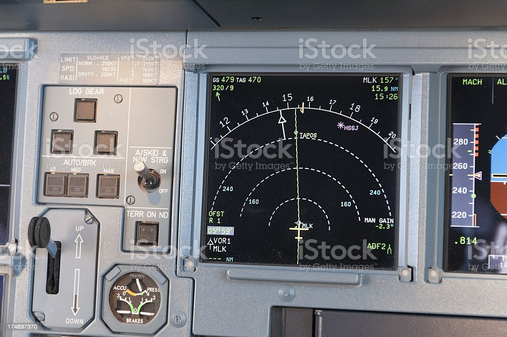 details of a cockpit stock photo