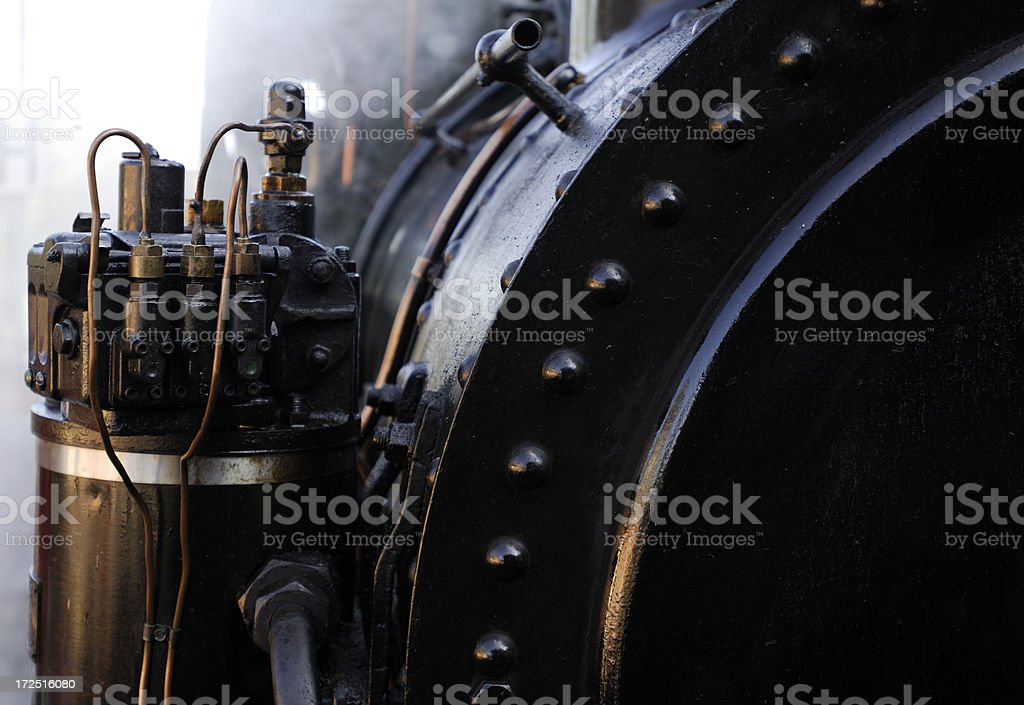 details of a steam engine royalty-free stock photo
