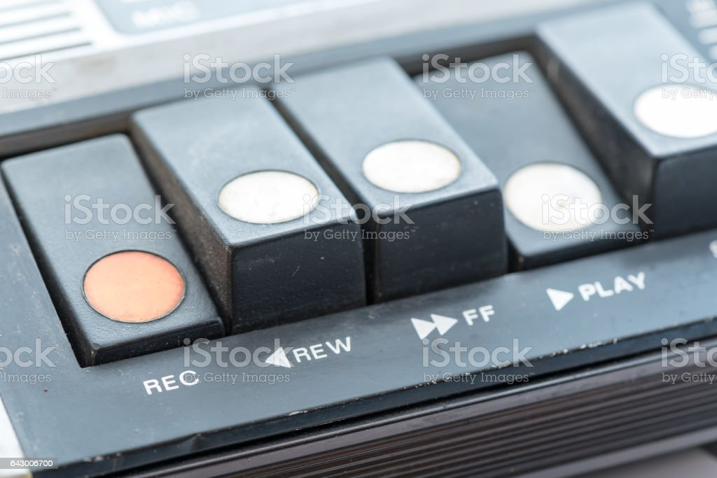 Details of a vintage Personal Cassette Player stock photo