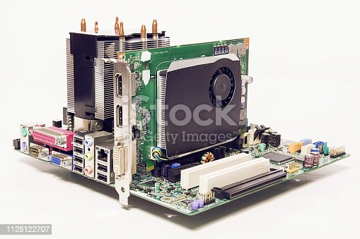 155152430istockphoto Details of an cooling elements, fan. Processor cooler. 1125122707