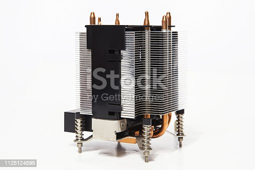 155152430istockphoto Details of an cooling elements, fan. Processor cooler. 1125124595