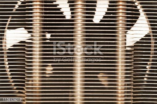 155152430istockphoto Details of an cooling elements, fan. Processor cooler. 1125125217