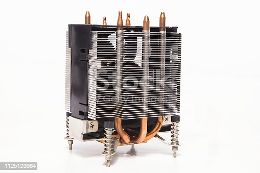 155152430istockphoto Details of an cooling elements, fan. Processor cooler. 1125129964