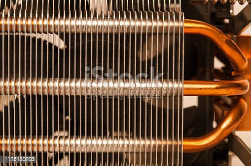 155152430istockphoto Details of an cooling elements, fan. Processor cooler. 1125130203