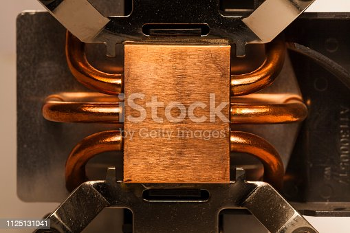 155152430istockphoto Details of an cooling elements, fan. Processor cooler. 1125131041