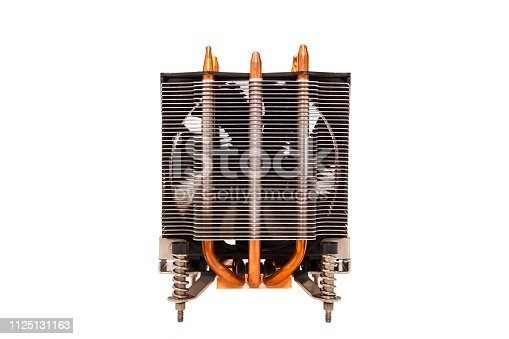 155152430istockphoto Details of an cooling elements, fan. Processor cooler. 1125131163