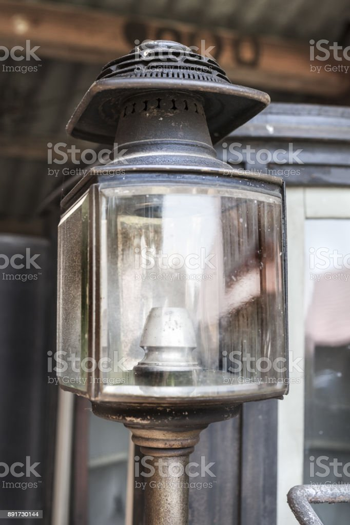 Details of an Old car lamp in Romania, Transylvania, Cserhat stock photo