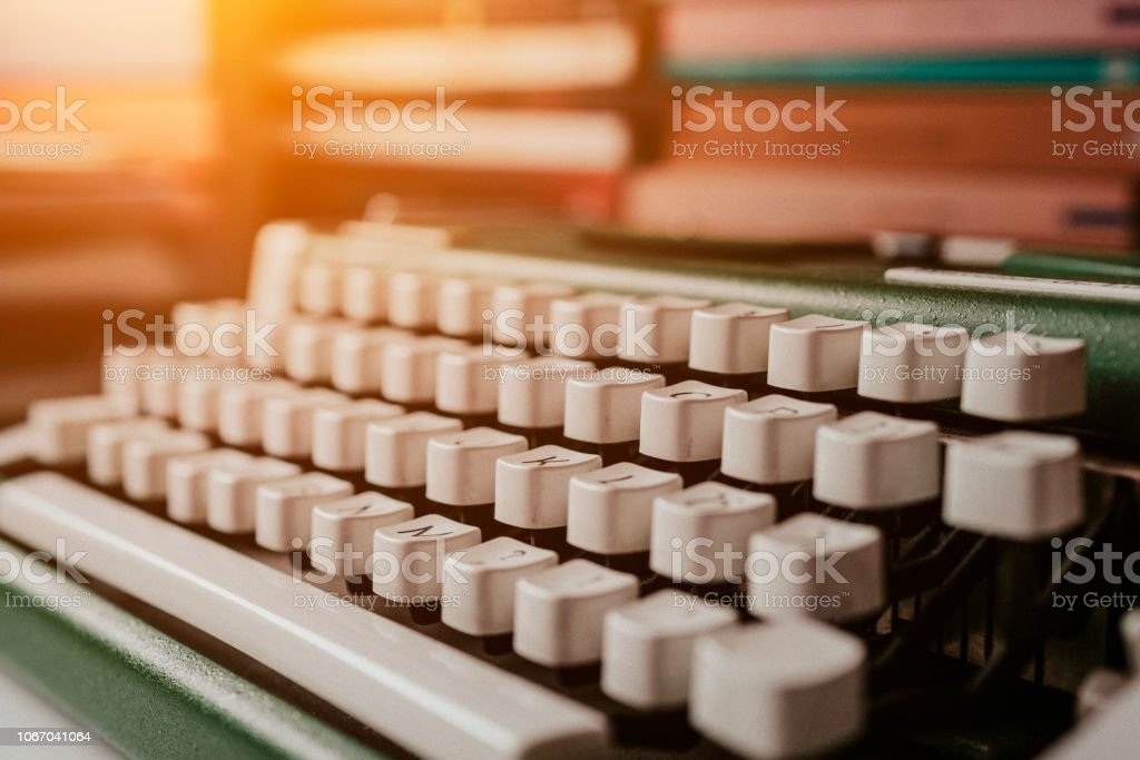 Details of an old typewriting