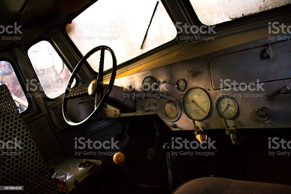 Details of ancient army Jeep - Stock Image stock photo