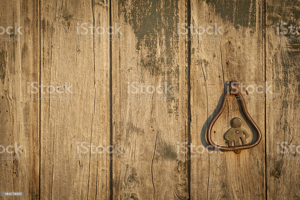 Details of antique grungy door royalty-free stock photo