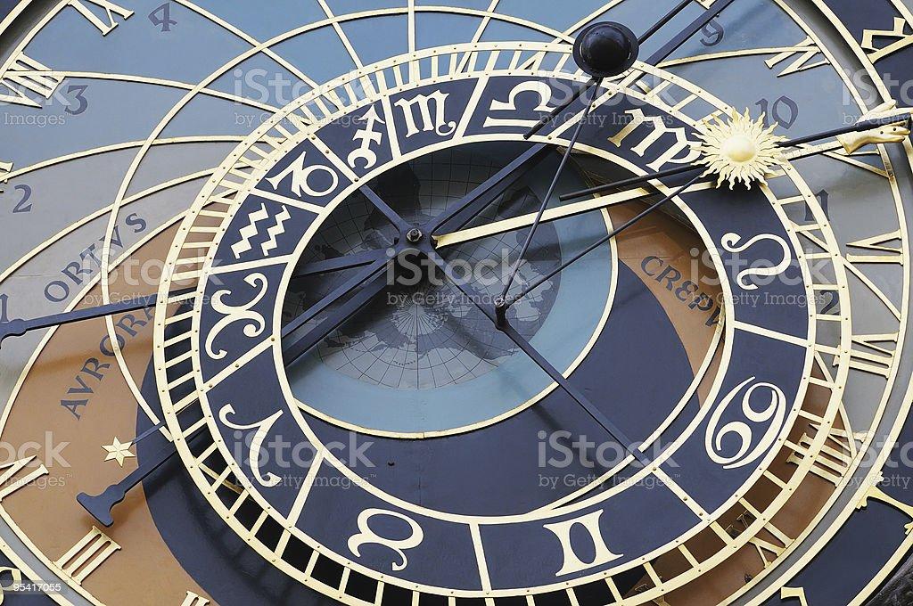 Details Astronomische Uhr in Prag, Tschechische Republik Lizenzfreies stock-foto