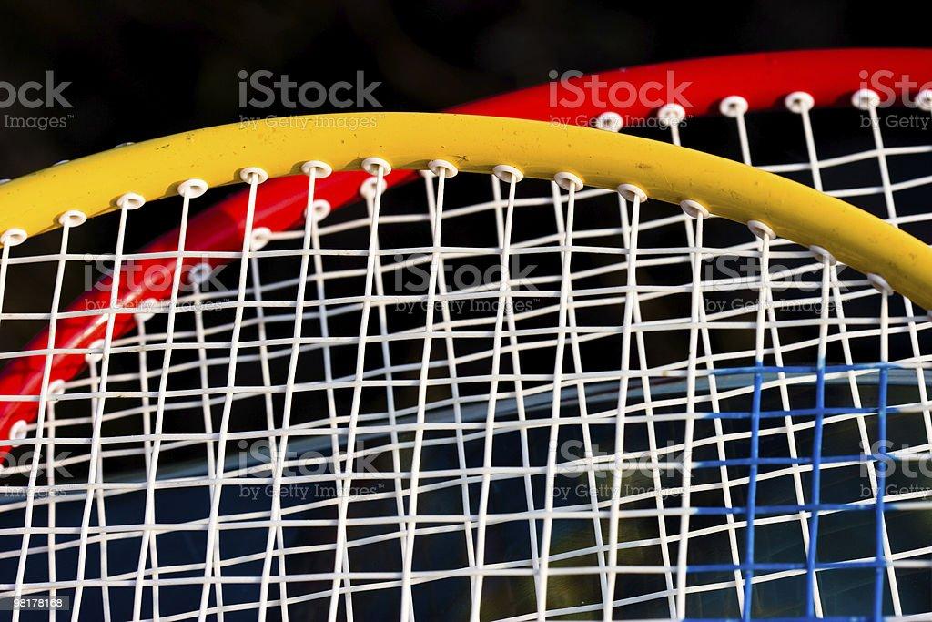 details of  badmington rackets royalty-free stock photo