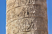 istock Details of Bas Relief of Trajan's Column in Rome, Italy 490722544