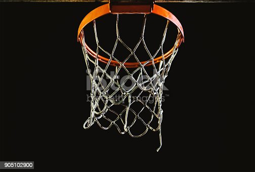 istock Details of Basketball Hoop at Night 905102900
