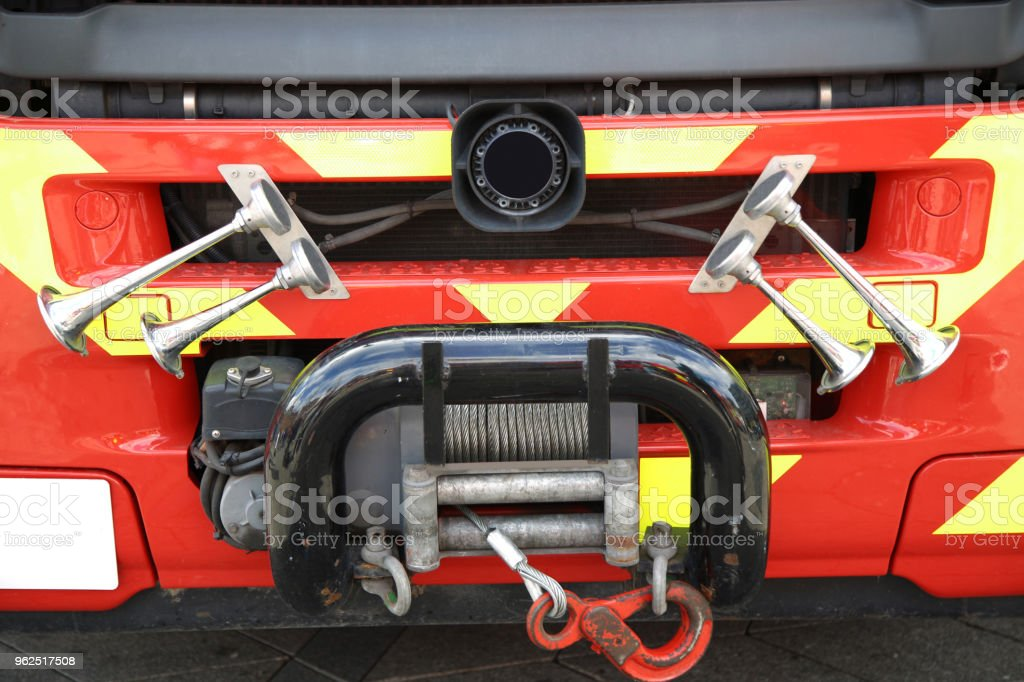 Details of Bugle in close up of - Fire truck (signal horn) - Royalty-free Accidents and Disasters Stock Photo
