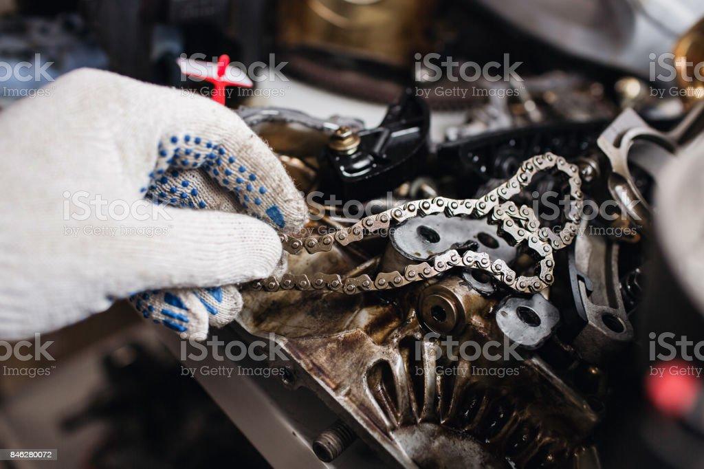 Informationen über Auto-motor-Kette und Getriebe Cut-away