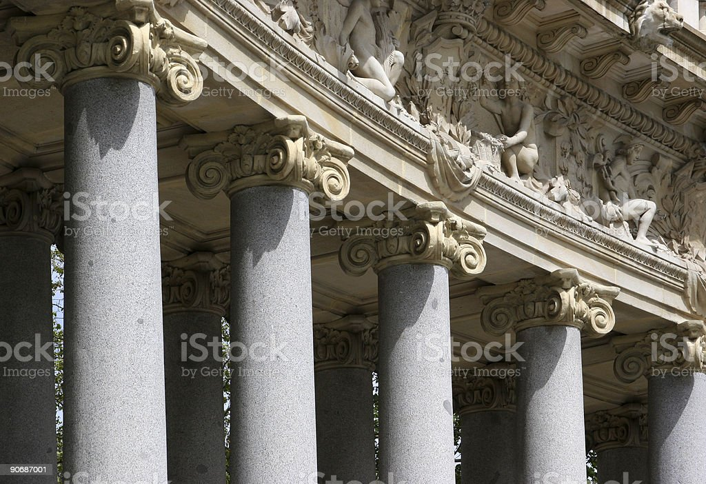 Details of corinthian columns royalty-free stock photo