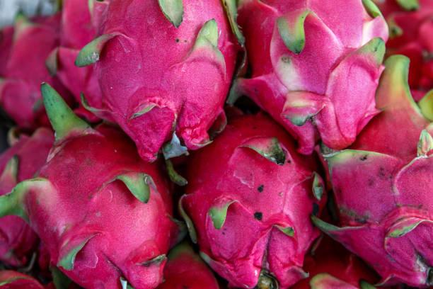details of dragon fruits - pitahaya
