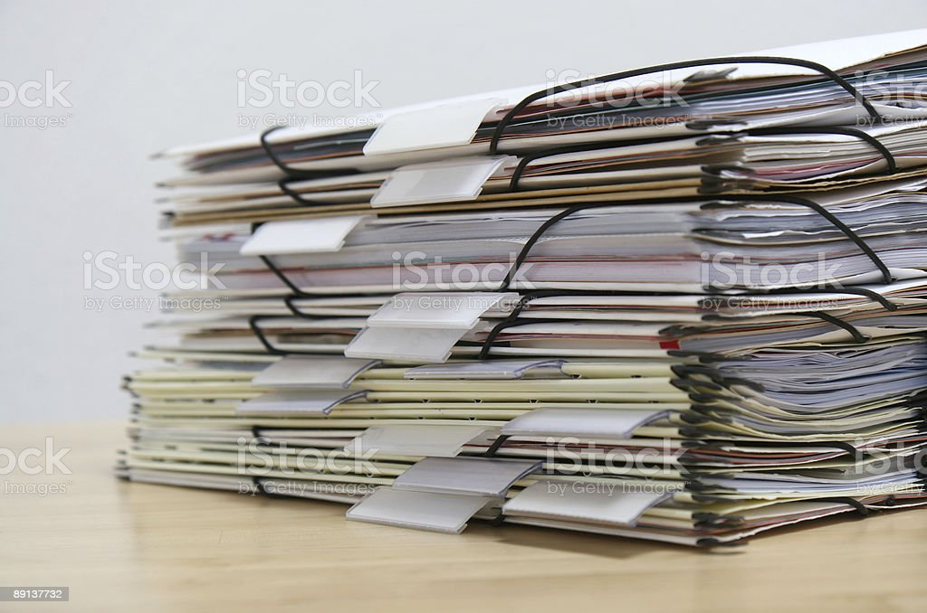 details of files royalty-free stock photo