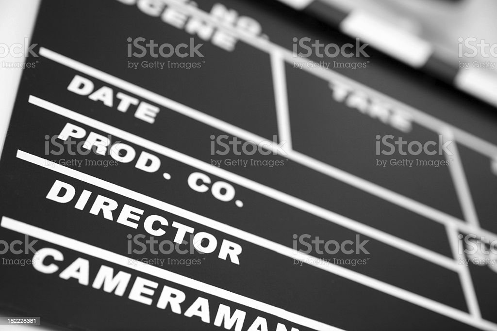 Details of film slate royalty-free stock photo