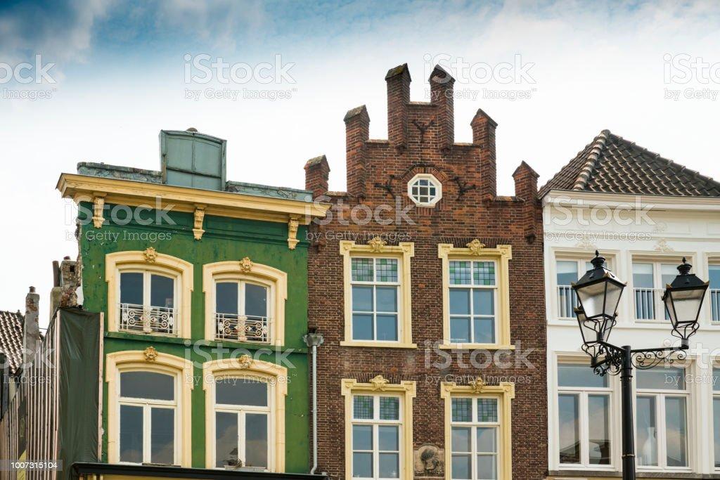 Details voor gable huis Den Bosch, is Hertogenbosch, Nederland foto