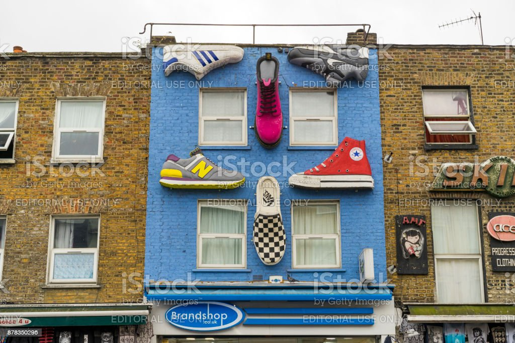 Details of house wall in Camden Town London stock photo