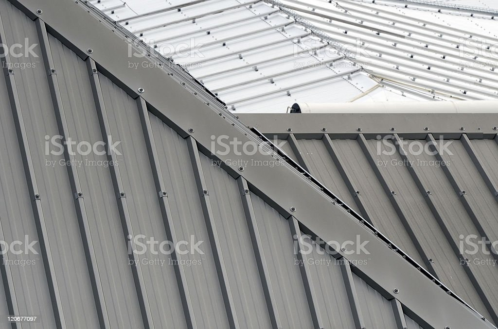details of iron's roofs stock photo