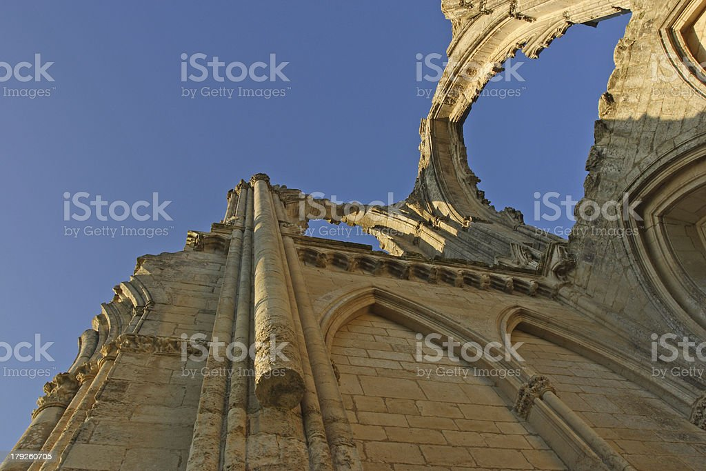 Details of Maillezais Abbey stock photo