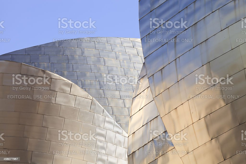 Details of modern architecture: Guggenheim Museum Bilbao stock photo