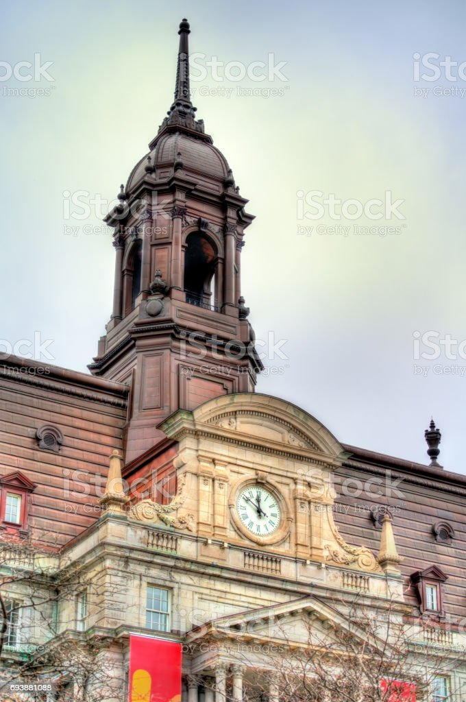 Details of Montreal City Hall in Canada stock photo