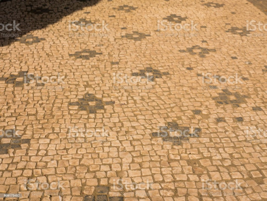 details of mosaic floors in ancient Rome, Italy stock photo