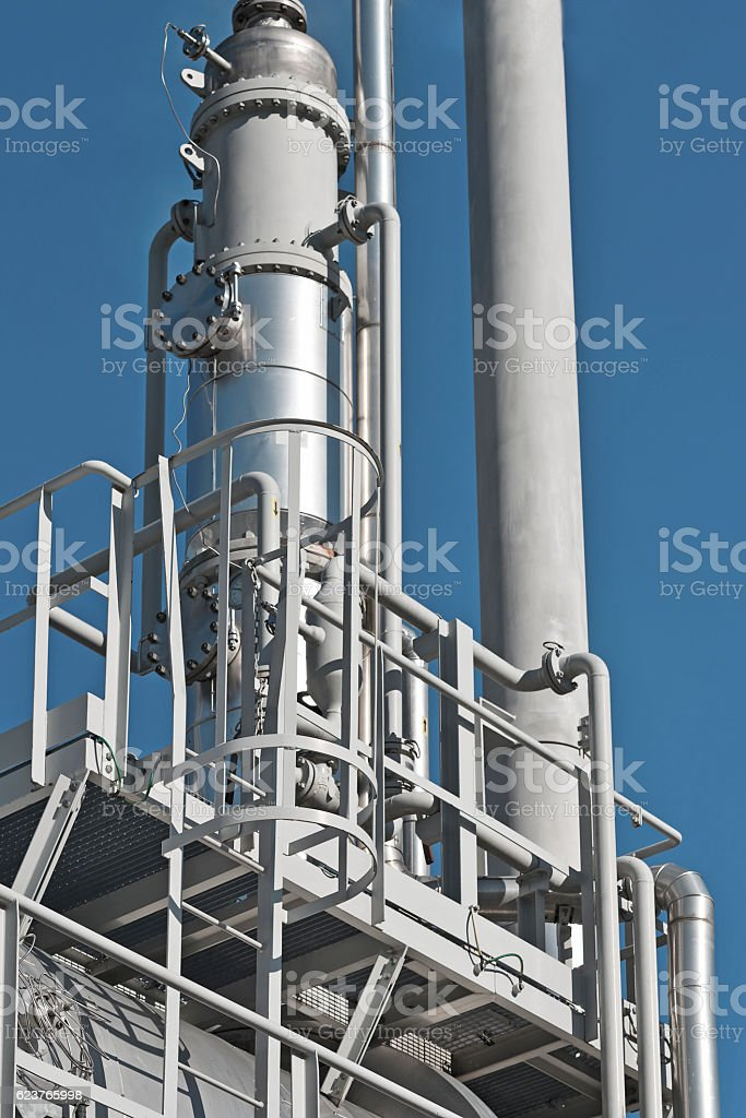 Details of oil refining and natural gas stock photo
