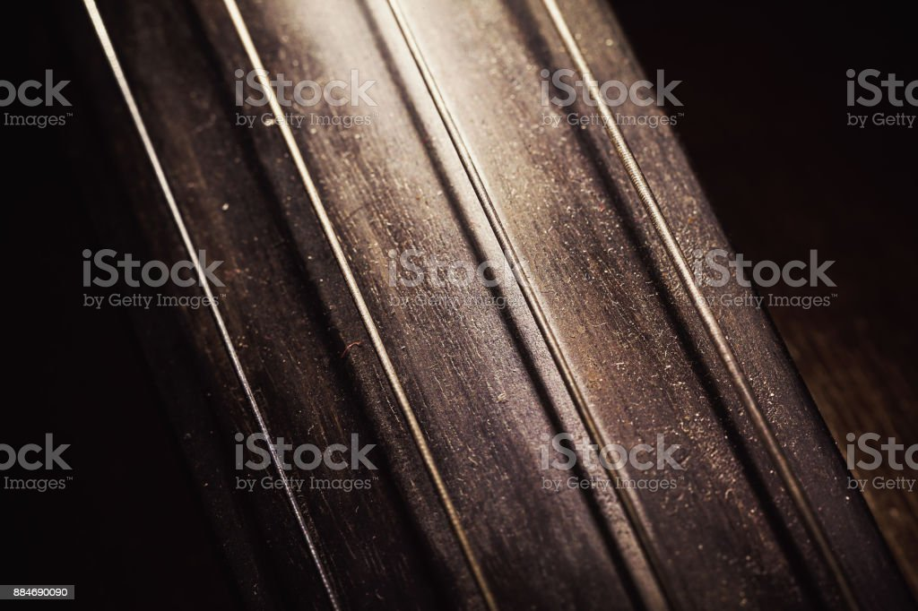 Details of Old Cello stock photo