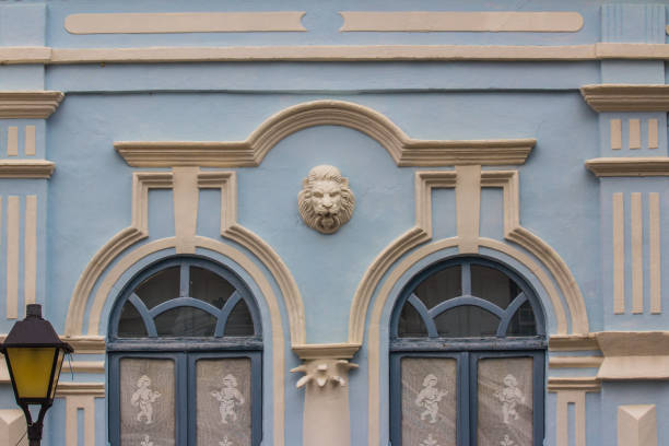 Details Of Old House Details of an old house in the historic centre of City Of Goias. These buildings are located in public square. goiás city stock pictures, royalty-free photos & images