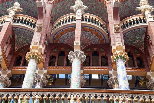 Details of Palau de la Musica Catalana, outdoor, Barcelona ,Spain