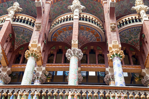 Details of Palau de la Musica Catalana, outdoor, Barcelona ,Spain