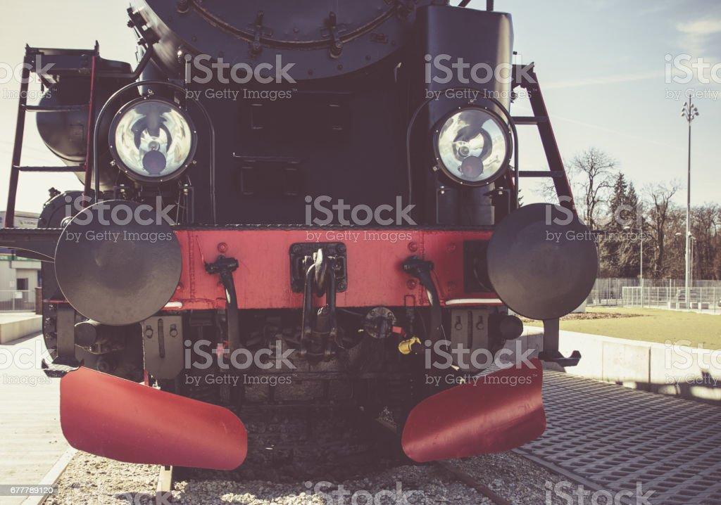 Details of Polish steam locomotive. royalty-free stock photo