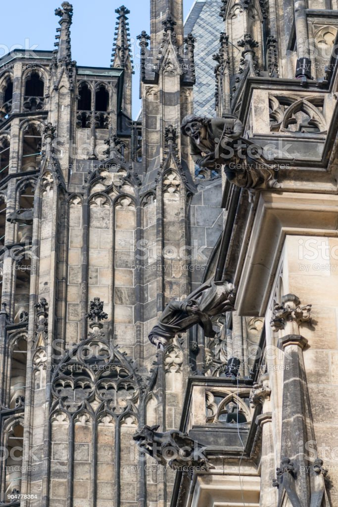 Details of roof of st. Vitus cathedral royalty-free stock photo